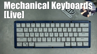Mechanical Keyboards LIVE! - BUILD Carbon Fiber Blue with clicky switches