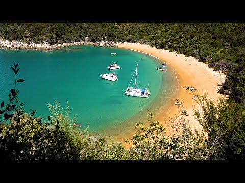 סרטון מרשים באיכות 4K של פארק אבל טסמן בניו זילנד
