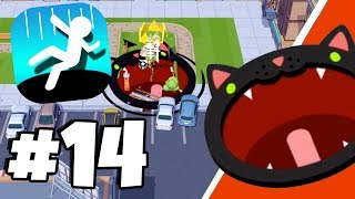 Special DIAMOND BLACK CAT Skin HIGHSCORE! - Hole.io Gameplay Tips & Tricks Walkthrough Part 14
