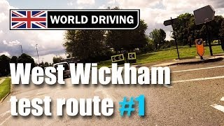 preview picture of video 'West Wickham driving test route PART 1'