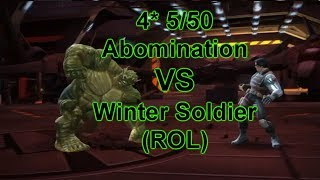 4 Star 5/50 Abomination VS Realm Of Legends Winter Soldier - Marvel Contest Of Champions