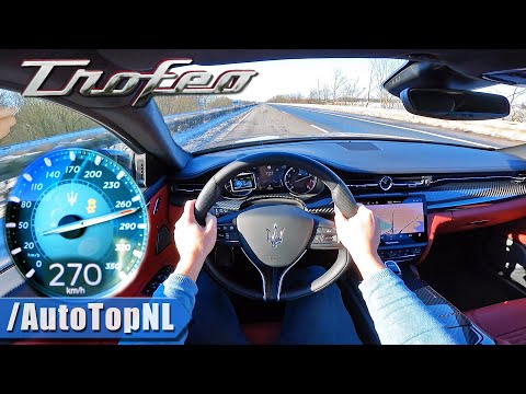 Maserati Quattroporte Trofeo 580HP V8 on AUTOBAHN [NO SPEED LIMIT] by AutoTopN