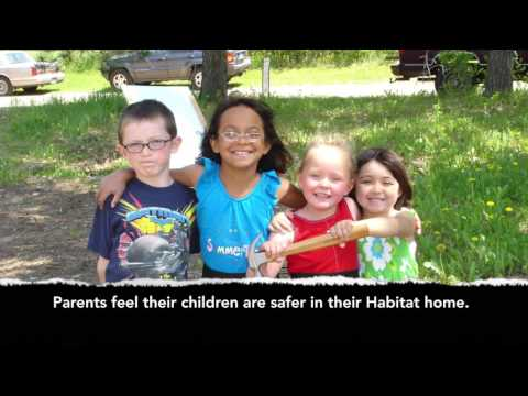 Habitat improves the lives of families.