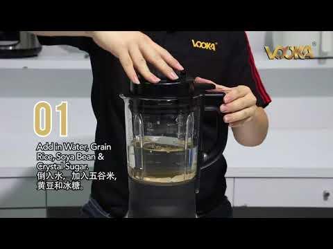 Cách xay nấu sữa hạt gạo lứt bằng máy midimori
