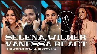 Selena, Wilmer & Vanessa Hudgen reacts to Demi's 'Hallelujah' performance at SOMOS Live! concert
