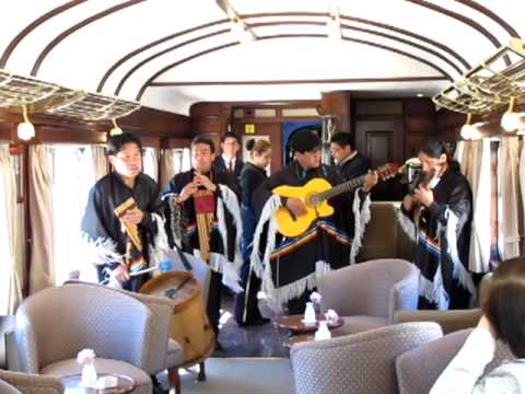 Traditional Andean panflute band plays on the Andean Express (1827)