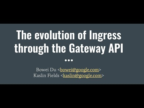 The evolution of Ingress through the Gateway API
