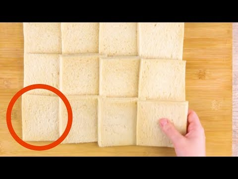 Take 12 Slices Of Bread & Roll Them Flat. The Result? Awesome!