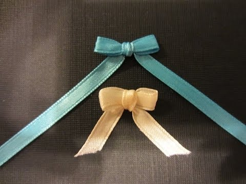 (Ribbon) How to make a Bow with Ribbon and a Fork- Quick and Easy
