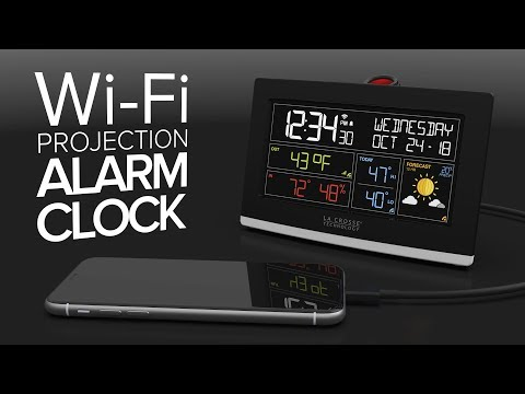 C82929-11 WiFi Projection Alarm Clock with AccuWeather