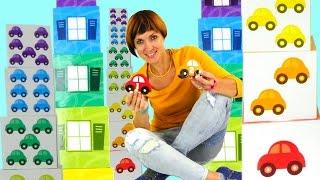 Машинки с цифрами и игрушки гаражи. Капуки Кануки. Развивающее видео для детей Волшебная Коробка