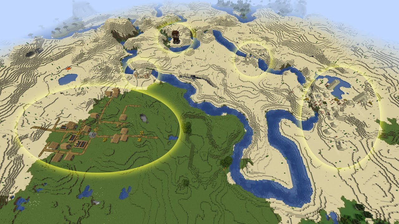 Minecraft 1.15.1 Seed Five structures in one spot not far from spawn MINECRAFT SEED 319676516535915