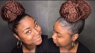Super Quick And Easy High Bun Using Marley Hair