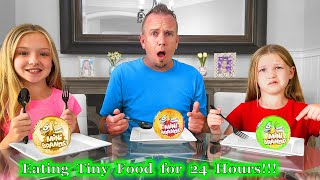 Eating Tiny Food for 24 Hours with Mini Brands Series 2 from 5 Surprise!!!