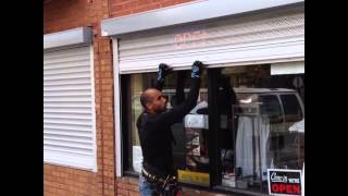Manual Spring Push up / Pull down Commercial Window Shutter