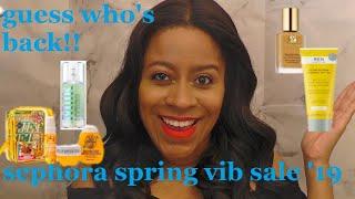 I'm Back!! Sephora VIB Spring Sale Haul