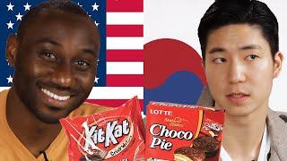 Americans & Koreans Swap Snacks