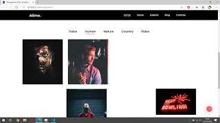 Site para designer gráfico ou fotografo