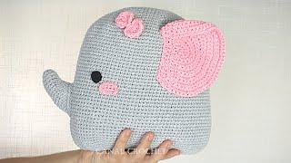 Cojin de elefante amigurumi [Nivel Facil Crochet]
