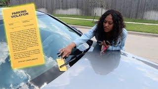 PARKING TICKET PRANK ON GIRLFRIEND!!! (SHE GOES OFF)