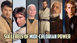 The Six Levels of Midichlorians Density
