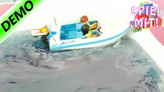 Surfer Pickup und Speedboot mit Trailer im Tinti Glibbi Bad | Playmobil Summerfun | Demo