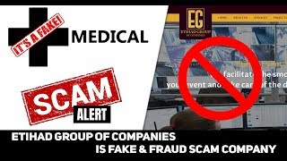 Etihad Group of company Warring! People very big scam