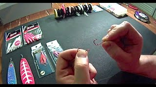 Making a Kokanee Salmon Lure - How to tie a snell knot