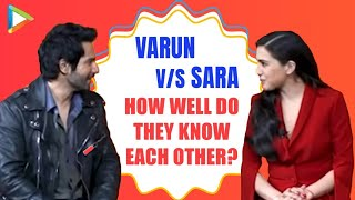 LAUGH RIOT: Varun Dhawan v/s Sara Ali Khan - How well do they know each other? | Coolie No.1
