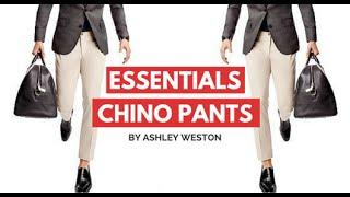 Chino Pants - Men's Wardrobe Essentials - Khakis Chinos Navy Tan Brown