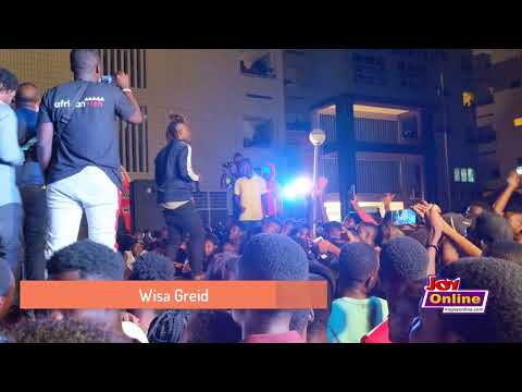 Wisa Greid performs at the Joy FM Open House Party at UPSA