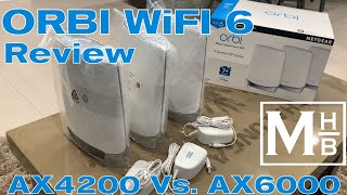 Orbi WiFi 6 Mesh Tri-Band Router RBK753S Review AX4200 Vs. AX6000   Excellent speed and reliability