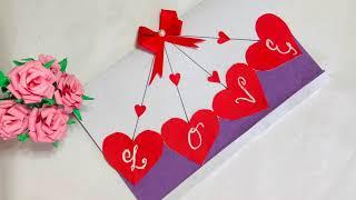 Handmade Greeting Card Ideas / Easy Handmade Valentine Cards / Valentines Day Card Ideas /