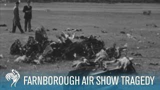 The Farnborough Air Show Tragedy on Film (1952)   British Pathé