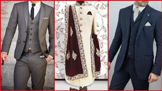 Beautiful Groom Dress Designs Sherwani And Three Piece Suit Designs