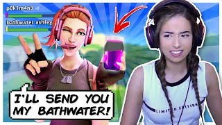 Pokimane buys Gamer Girl Bathwater?! Fortnite Duo Fill!