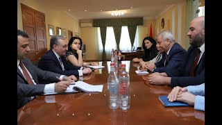 The Meeting of Foreign Minister Zohrab Mnatsakanyan with Ashot Ghulyan, the President of the National Assembly of Artsakh