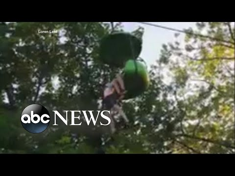 Video shows moment teen falls over 20 feet from amusement park ride