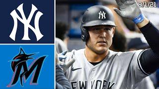 New York Yankees @ Miami Marlins | Highlights Game | 8/1/21