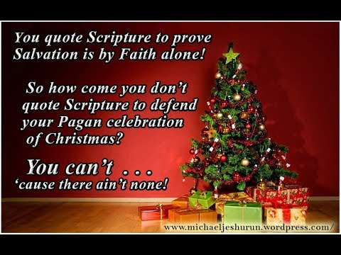 Is Christmas Pagan.Christmas Is Pagan Nothing To Do With Jesus Christ