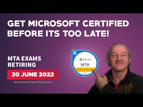 Microsoft MTA Exams Retiring (30 June 2022)