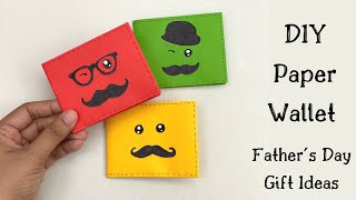 How To Make A Paper Wallet / Origami Wallet / Paper Craft / Fathers Day Gift Ideas / Paper Purse