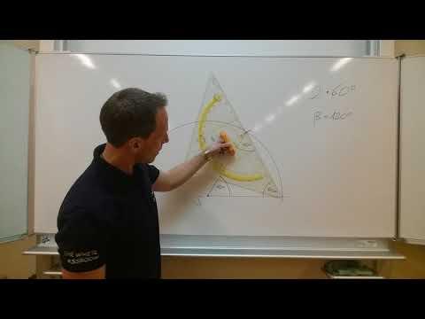 Winkelkonstruktion (WINKEL / KONSTRUKTION / ANGLE) ohne Winkelmesser - 120 Grad