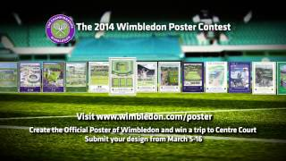 preview picture of video 'Design the poster for Wimbledon 2014 and you could be on Centre Court...'