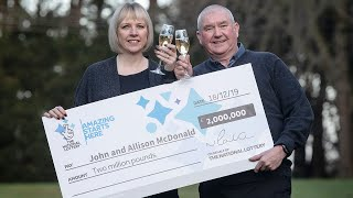 video: Couple won lottery three days before learning son had been given cancer all-clear