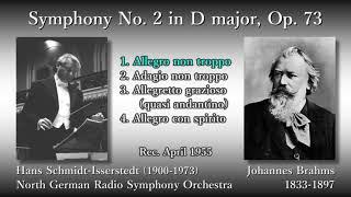 Brahms: Symphony No. 2, Schmidt-Isserstedt & NDRso (1955) ブラームス 交響曲第2番 シュミット=イッセルシュテット
