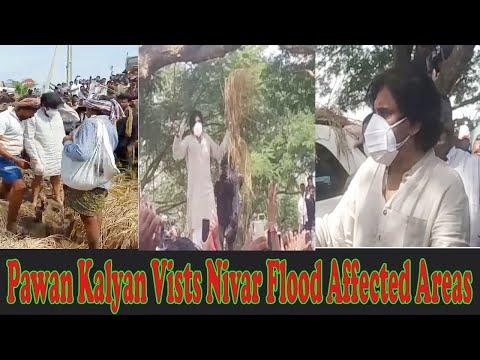 JanaSena Pawan Kalyan Vists Nivar Flood Affected Areas Vizagvision