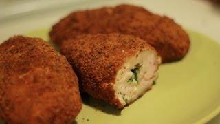 Смотреть онлайн Рецепт как приготовить котлеты по-киевски из филе