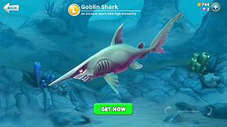 hungry shark world, goblin shark (3D Motion)