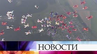 Российские парашютисты готовятся установить «Рекорд России»— дважды выстроить фигуру из114 человек